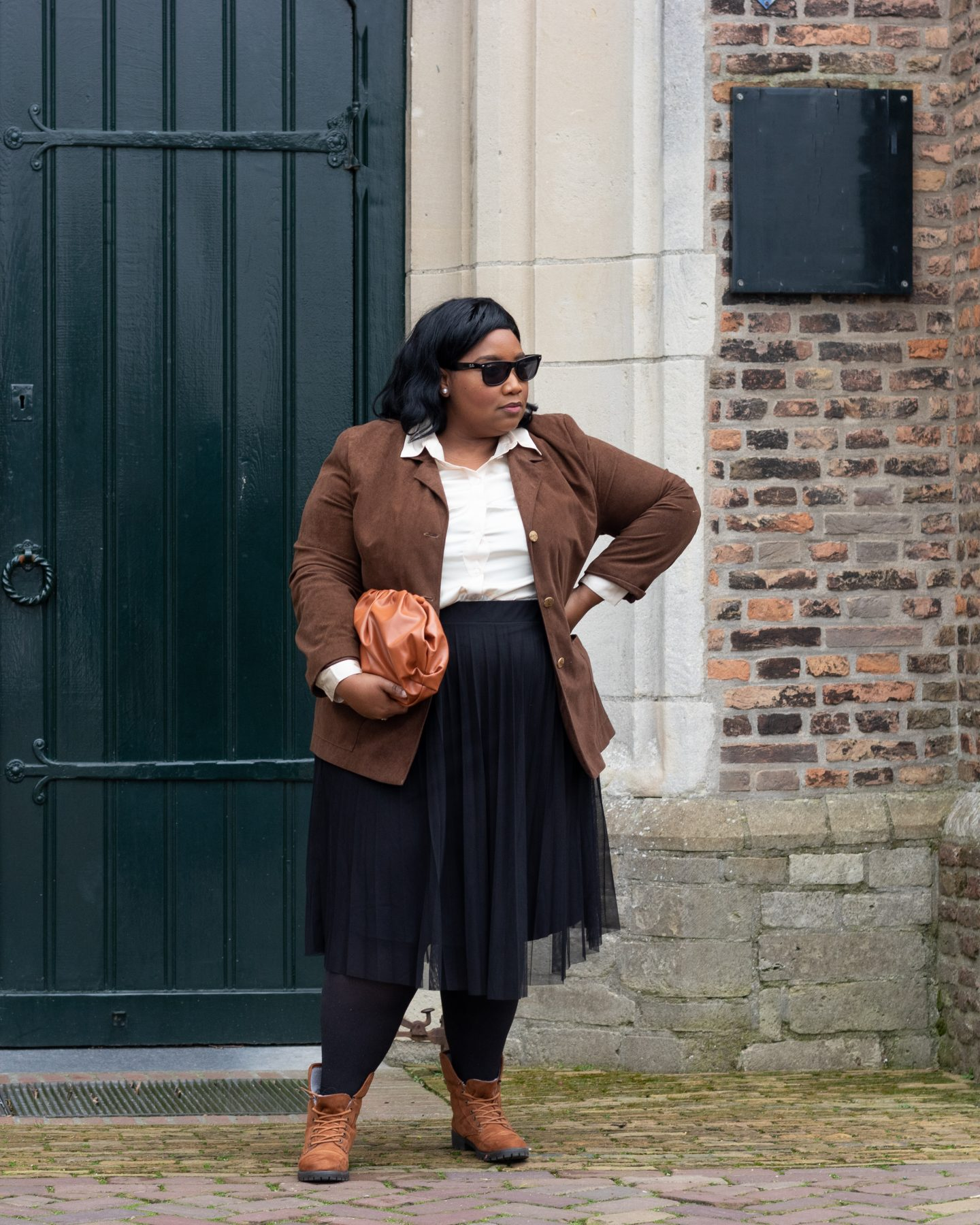 How To Wear A Pleated Skirt When Your Plus-Size