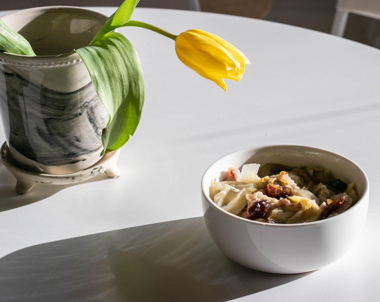 Gekookte Witlof Salade Met Dadel