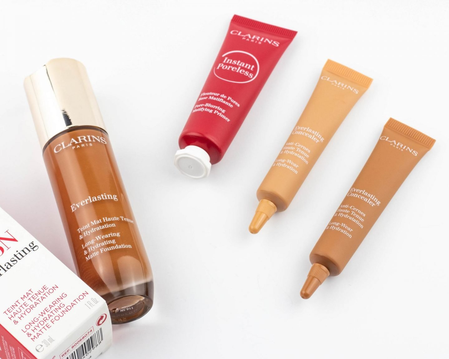 Clarins everlasting long-wearing foundation &  concealer